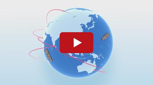 3DCGとアニメーションを使用して海外向けの製品紹介動画を制作。言語は英語を使用しています。